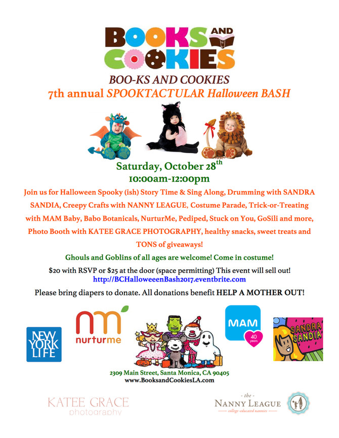 It's time for Halloween Fun at Books and Cookies