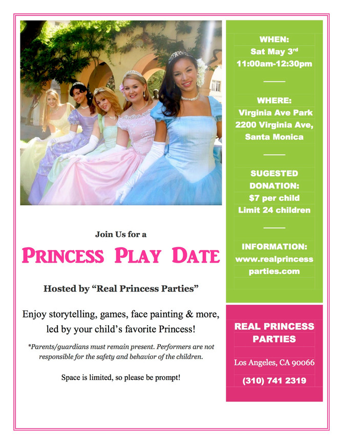 Don't miss this royal play date by Real Princess Parties!