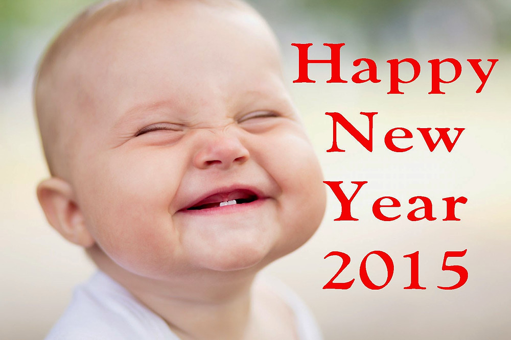 smiling cute babies hd wallpaper of new year 2015.jpg