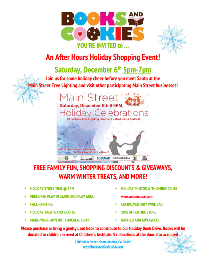 You're Invited to Books and Cookies Main Street Shopping Event