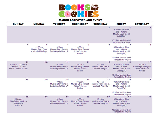 March Pop Up Activities and Event