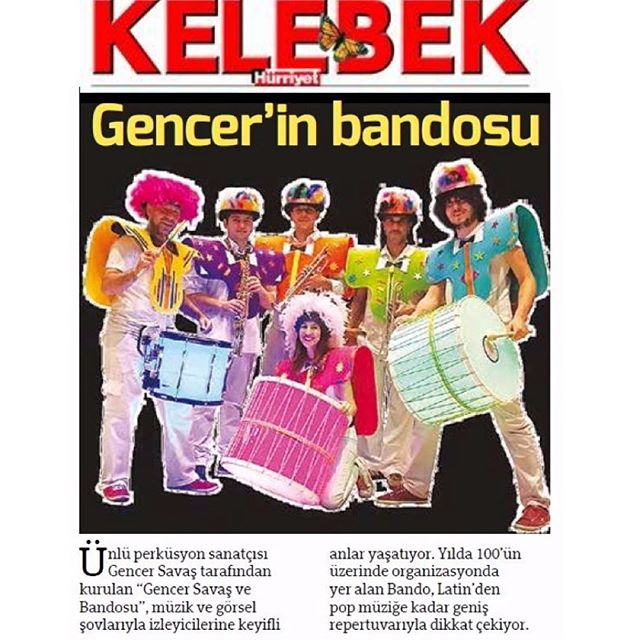 Bugün #Hürriyet gazetesinin #Kelebek ekindeyiz #GencerSavasBandosu #gencersavas #DüğünBandoShow #DÜĞ
