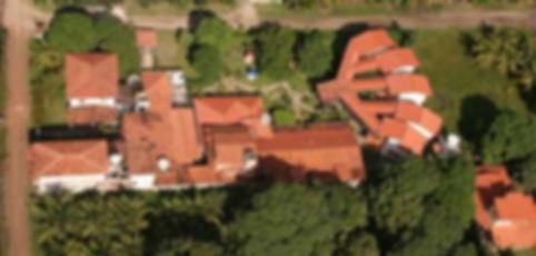 Imagem aérea da Pousada
