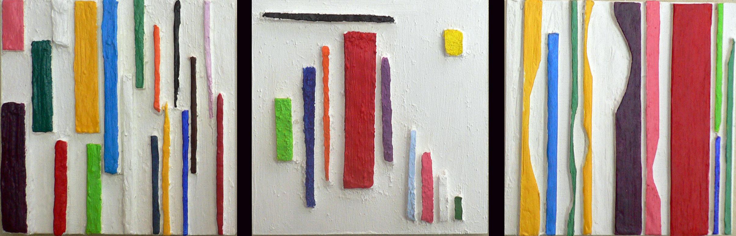 triptyque paan couleur relief