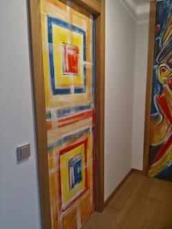 Porta interna dipinta a mano