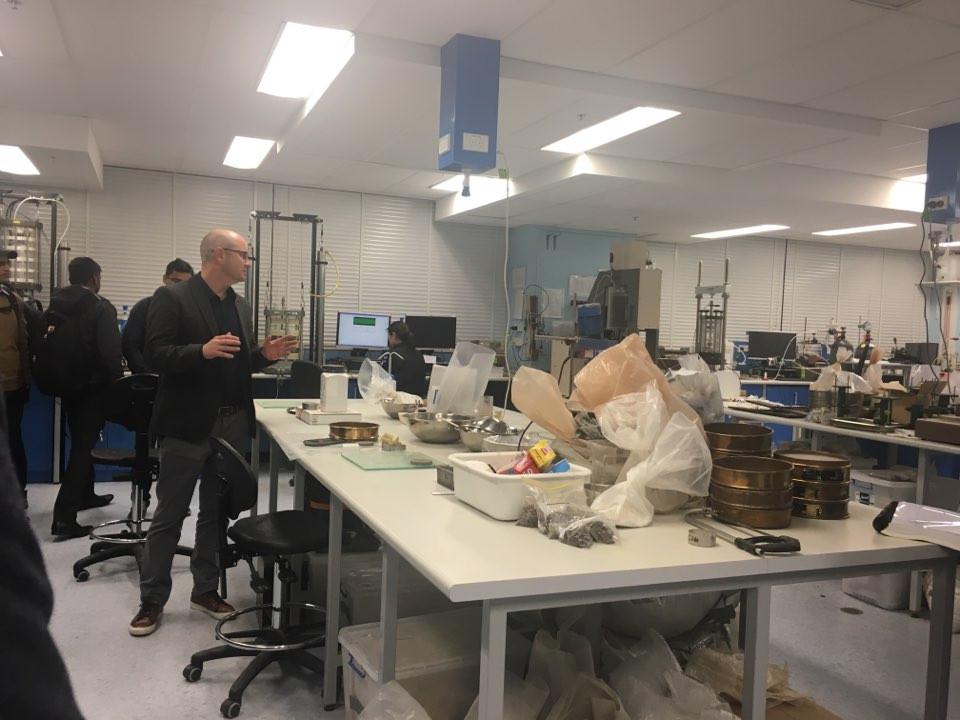 Geotech laboratory tour at UNSW Sydney