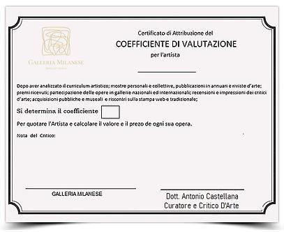 certificato di valutazione Dott Antonio