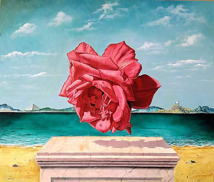 antigravitta -Olio su tavola cm 35 x 40