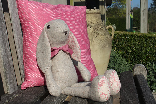 Pink with White Spot Cushion Cover