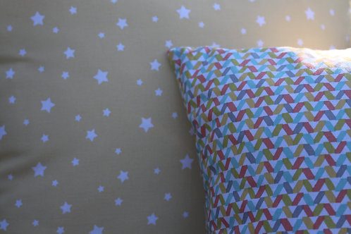 Pastel Yellow Star Cushion Cover