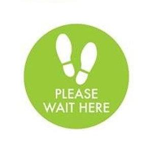 Floor Decal - Please Wait Here