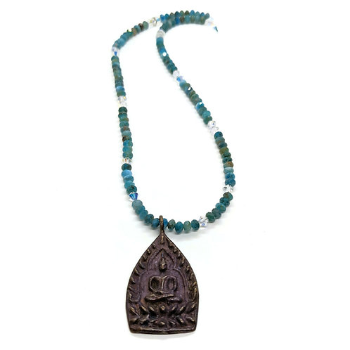 Apatite and Buddha pendant
