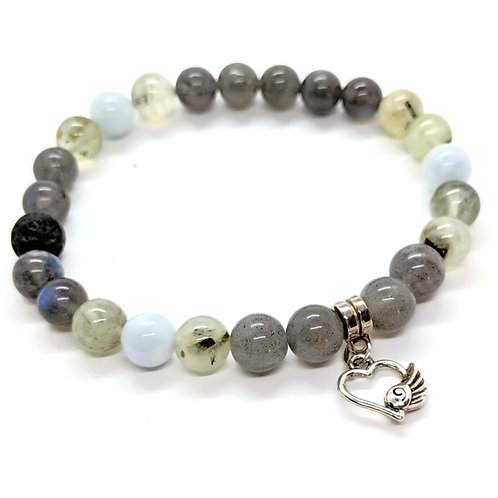 Divine Connection: Labradorite, Aquamarine, & Prehnite