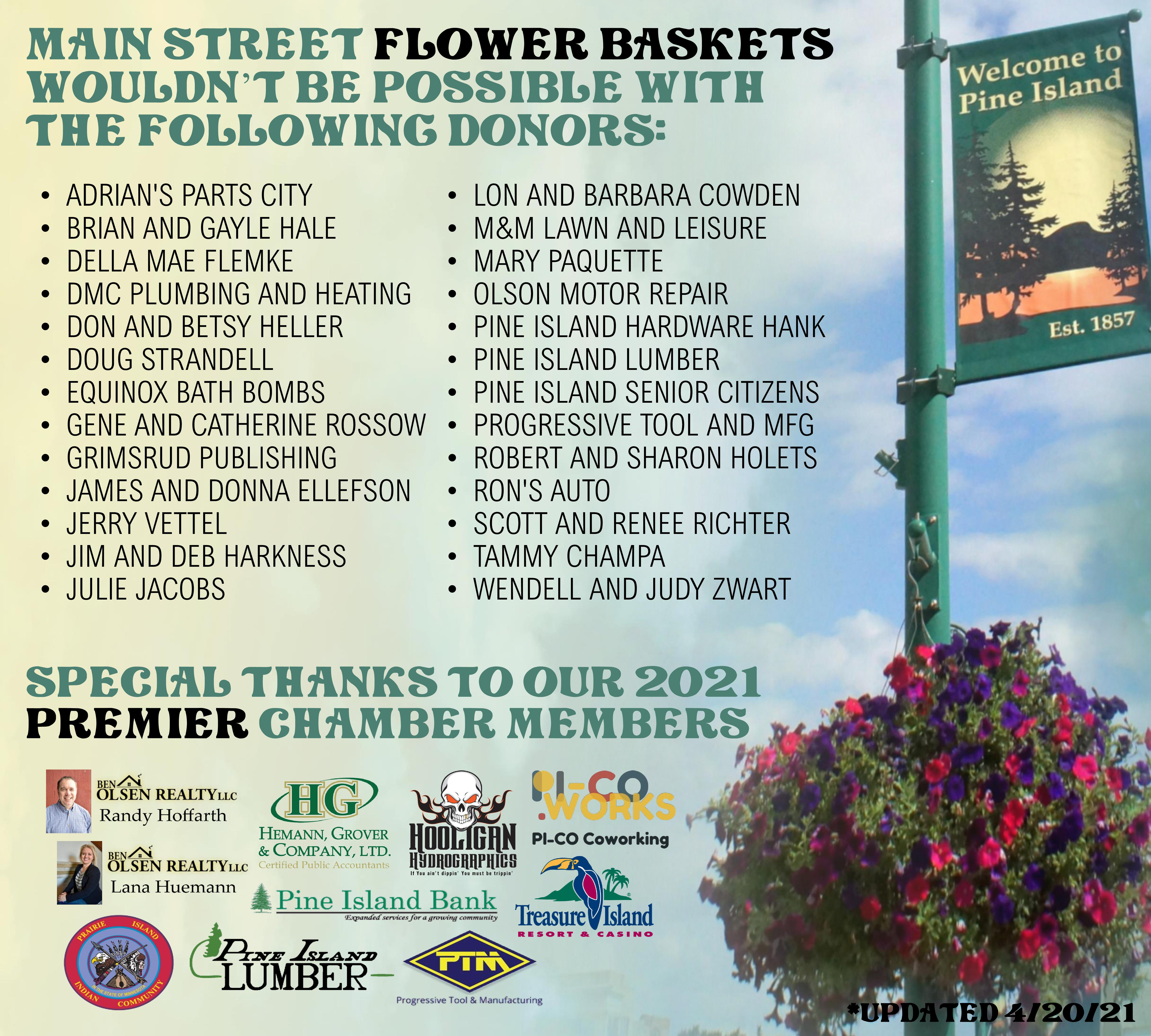 Flower Basket Donors