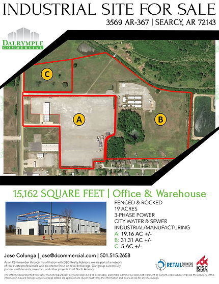 3569 AR-367 Industrial Manufacturing For Sale | Dalrymple Commercial | Commercial Development Management | Real Estate Management | Properties for Lease | Arkansas