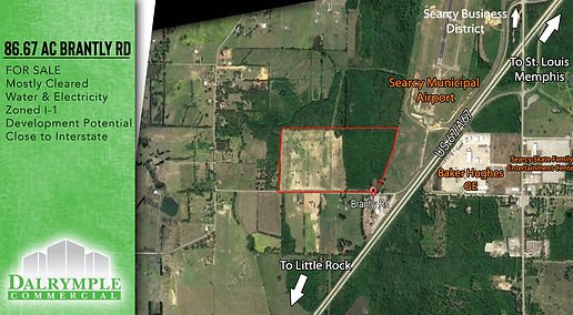 86.67 AC Brantly RD | Dalrymple Commercial | Available Properties | Commercial Development Management | Real Estate Management | Properties for Lease | Arkansas