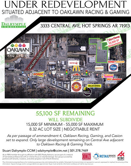 Cenral Ave Hot Springs For Lease