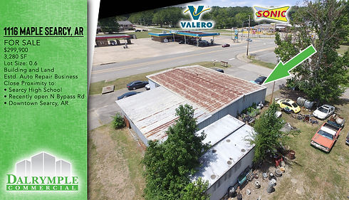 1116 Maple Searcy | Dalrymple Commercial | Available Properties | Commercial Development Management | Real Estate Management | Properties for Lease | Arkansas