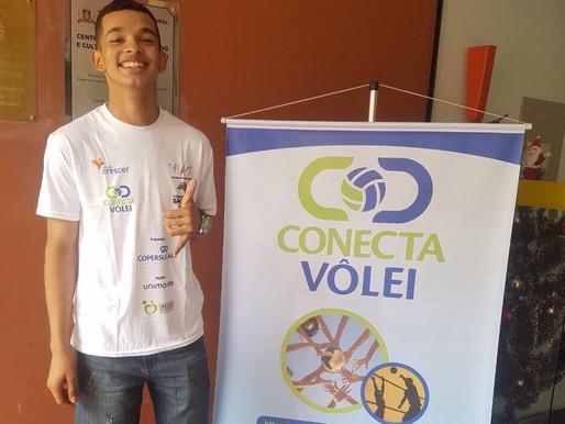 Aluno do Conecta Vôlei é aprovado em seletiva para o time de Voleibol da Cidade de Santos