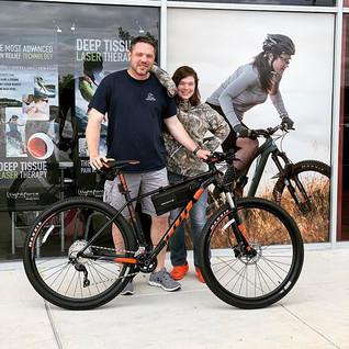 New bike day for Robert! Robert took hom
