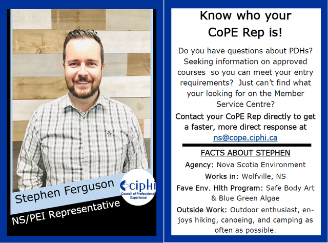 Meet your CoPE Rep!