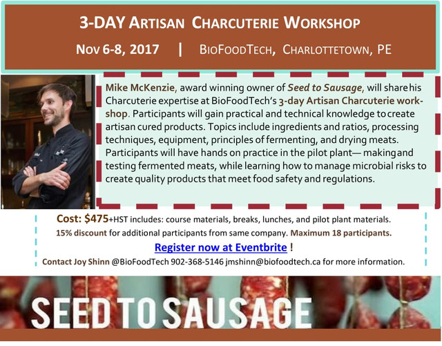 3 Day Charcuterie Workshop