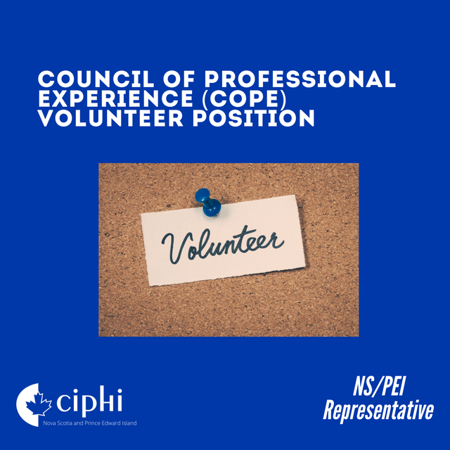 Council of Professional Experience (CoPE) Volunteer Positions