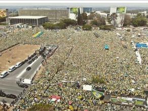 ブラジルでボルソナロ大統領の支持者の大集会が発生