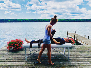 Fascial Stretch Therapy on the dock