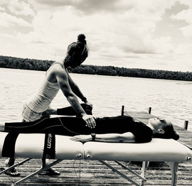 Alannah Fascial Stretch Therapy on dock