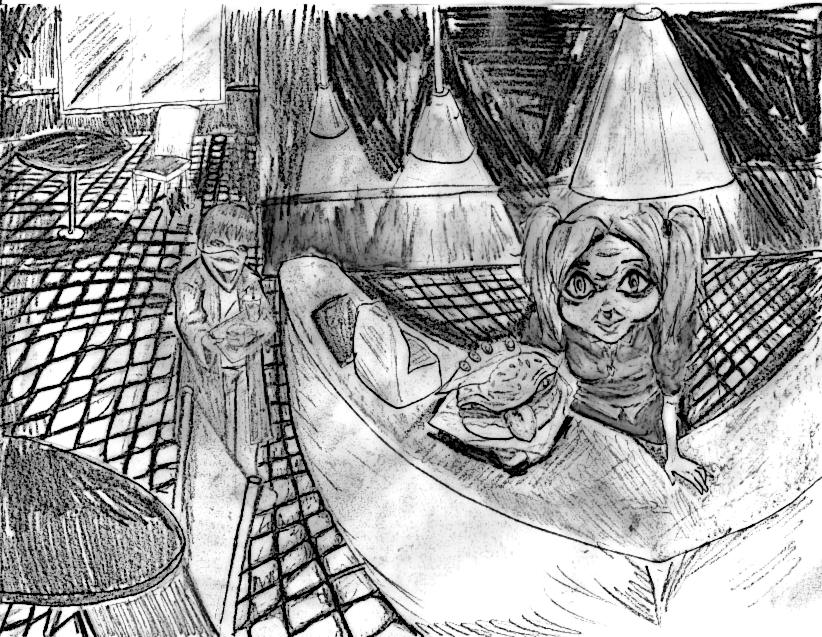 Burger Blam Concept Sketch
