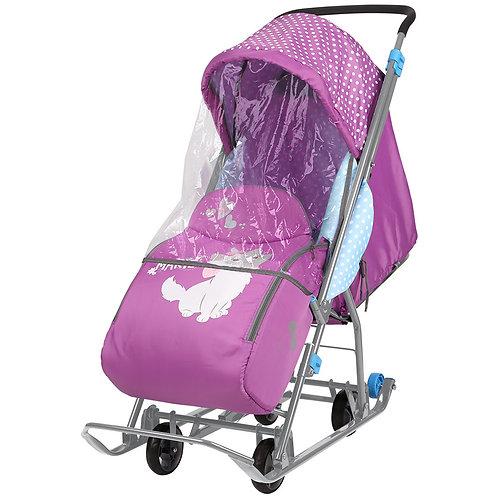 Санки-коляска Disney Baby с выдвижными колесами