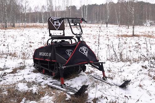 Мотобуксировщик БУРЛАК М Combi 9л.с. + лыжный модуль