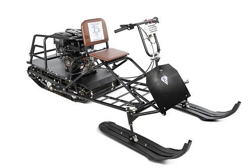 Мотобуксировщик БУРЛАК М VECTOR 15 л.с. + лыжный модуль