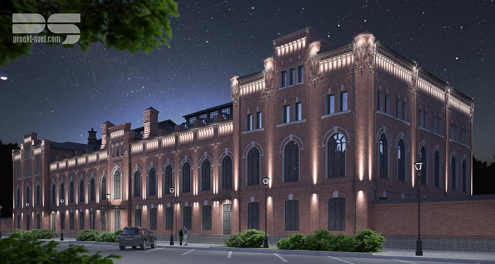 Проект архитектурного освещения ЛВЗ, Рязань