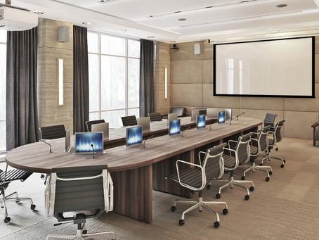 Комплект для управления светом в переговорной комнате.