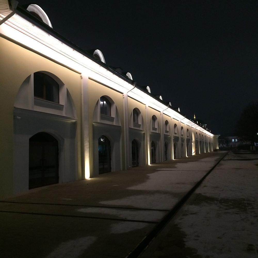 Архитектурное освещение Торговых рядов Рязань