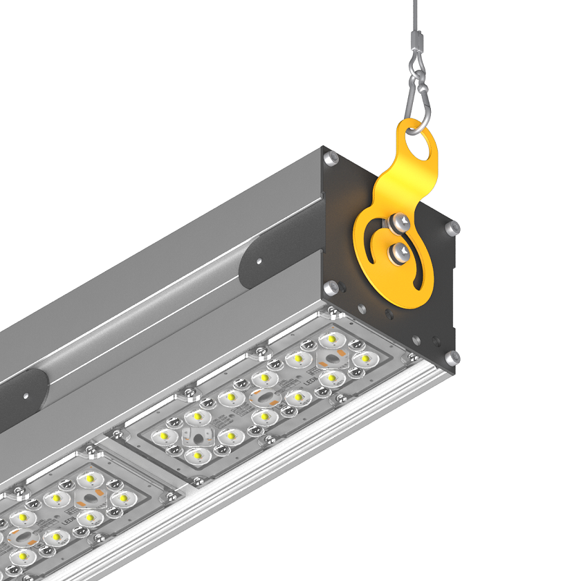 Подвесное поворотное крепление на трос для светодиодного светильника