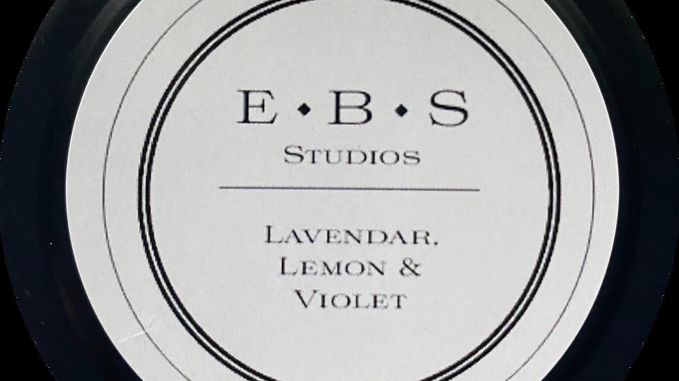 Lavendar, Lemon & Violet Tin Candle