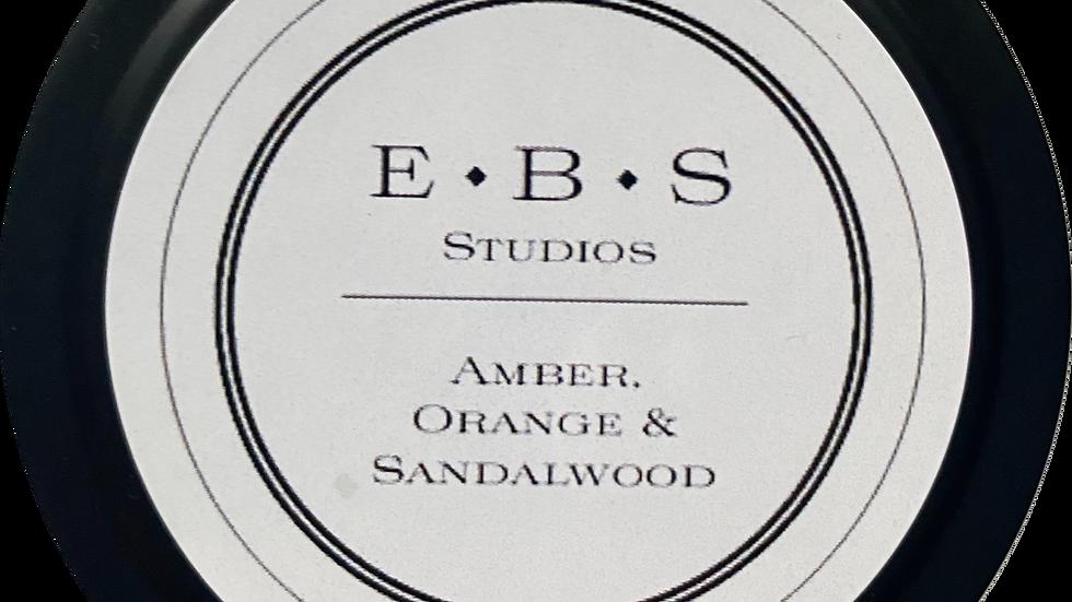 Amber, Orange & Sandalwood Tin Candle