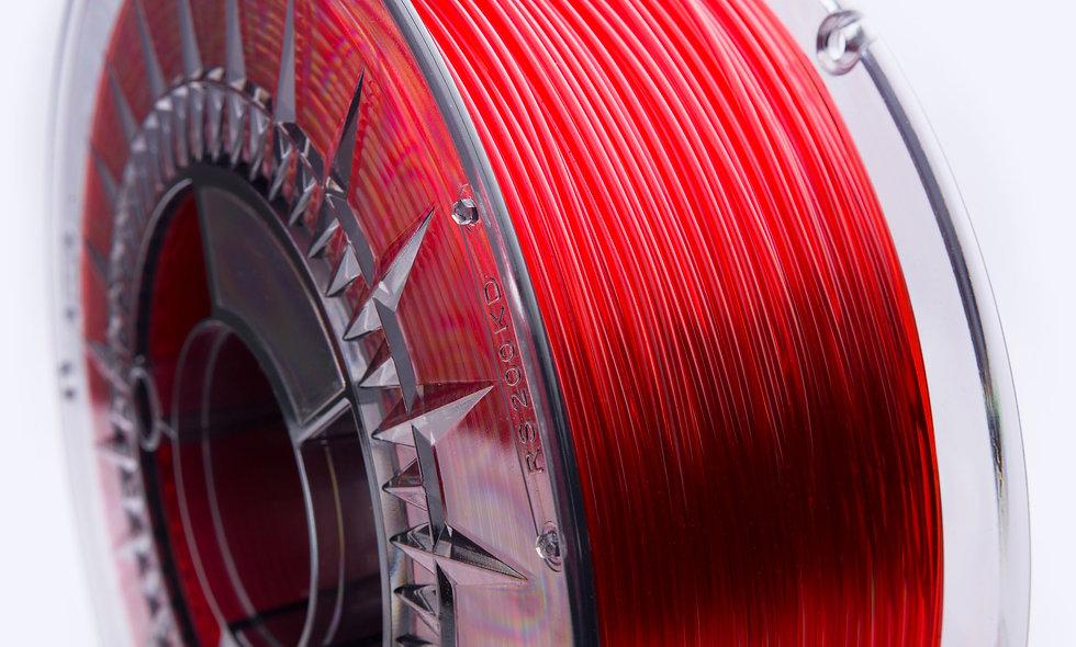PETG Transparent RED 1kg - Printologist