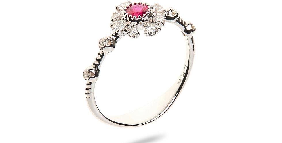 Girls Dreams Red Ruby Ring