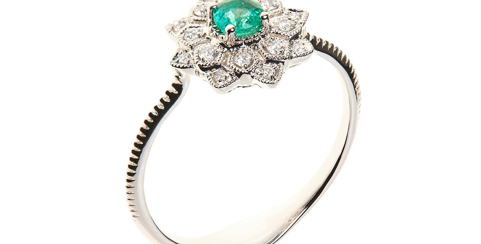 Girls Dreams Emerald Ring