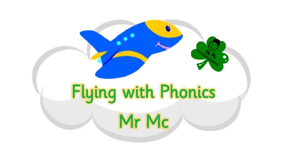 Flying with phonics logo photo