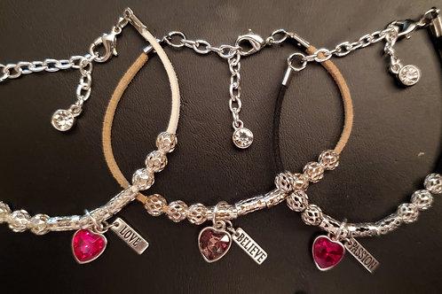 S.O.S. Suedette Morse Code Bracelets