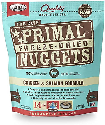 Primal Freeze-Dried Nuggets Chicken & Salmon formula