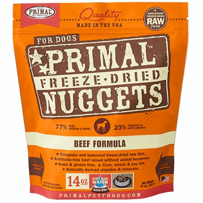 Primal Freeze-Dried Nuggets Beef formula