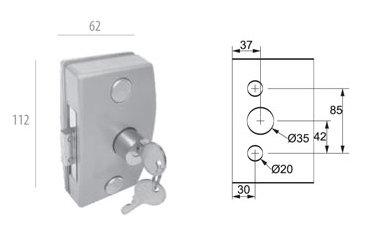 ALP-3210: Fechadura Central p/ Porta de Abrir AL