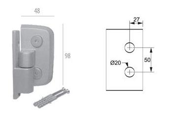 ALP-1114: Dobradiça Automática p/ Box AL