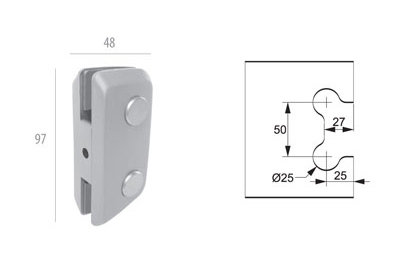 ALP-1231: Suporte p/ Basculante e Pivot. Grande AL